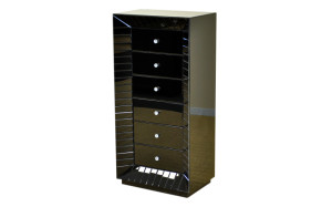 Black-High-Gloss-Tallboy-Chest-of-drawers-20136