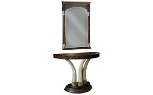 11501 Marakesh Semi Oval Console Table Mirror