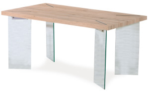 Raw wood dining table - 24769