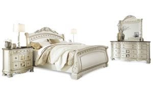 Dahlia cream sleigh bed - 17749