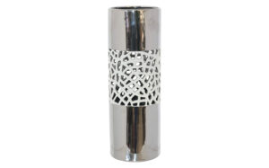 Silver white cylinder 42cm - 20041