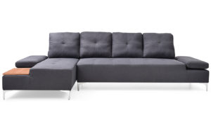 Winslet 3 Seater-Charcoal front - 18148