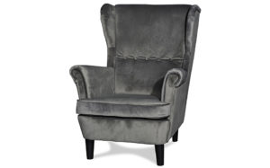 Cypress wing back chair light grey - 18176