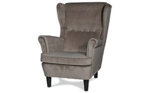 Cypress wing back chair taupe - 18175