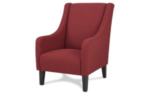 Novello wingbach arm chair-Red - 18192