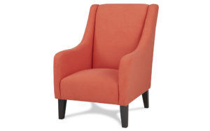 Novello wingback arm chair - Orange 18191