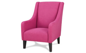 Novello wingback armchair-Rose red 18190